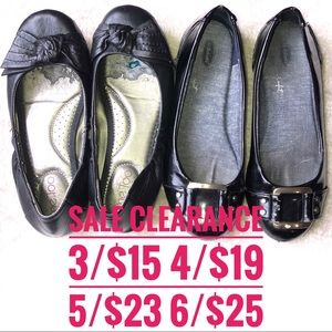 ME TOO DR SCHOLL'S black flats SALE CLEARANCE